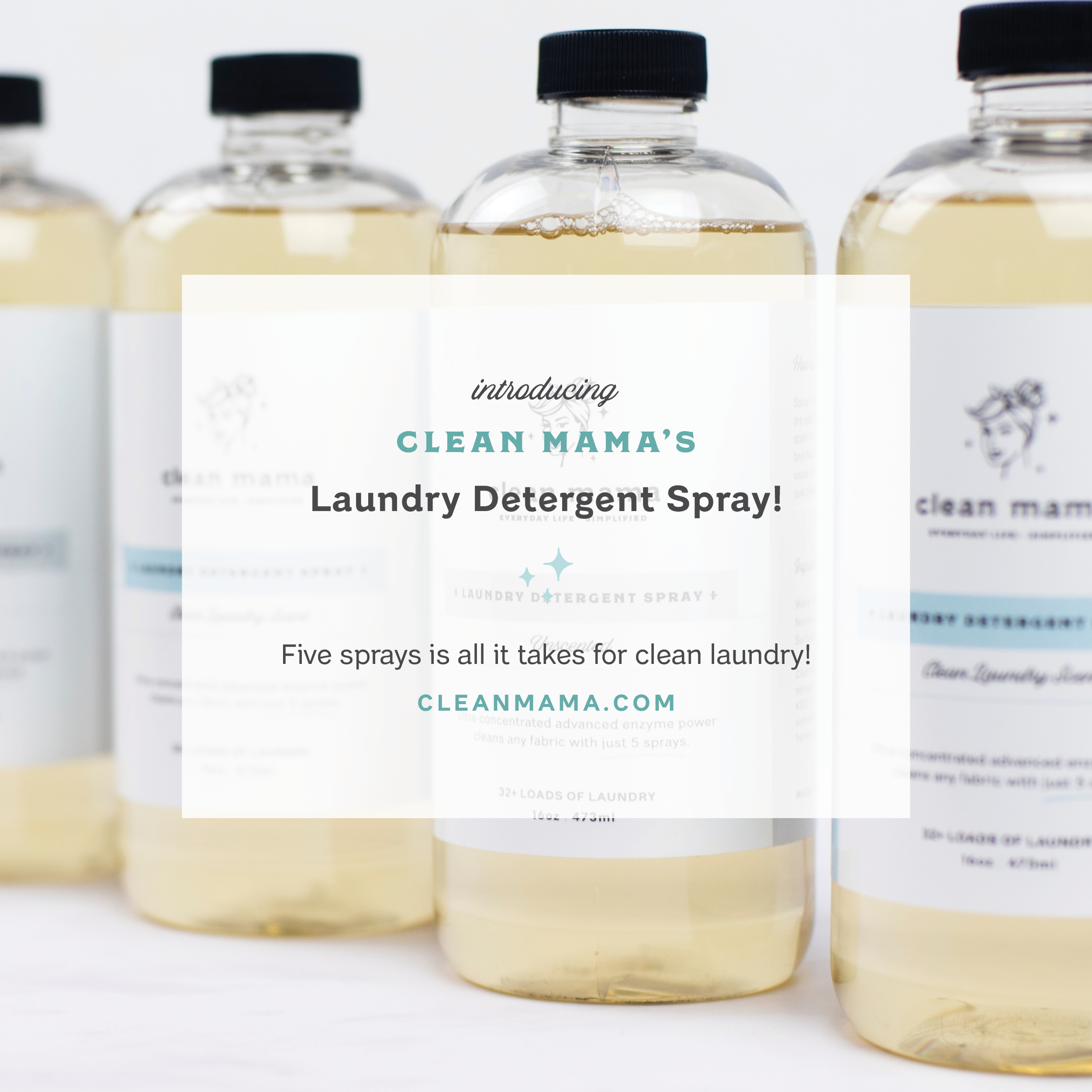 Laundry Detergent Spray Restock, now in Unscented + Clean Laundry Scent, and Subscriptions! – Clean Mama