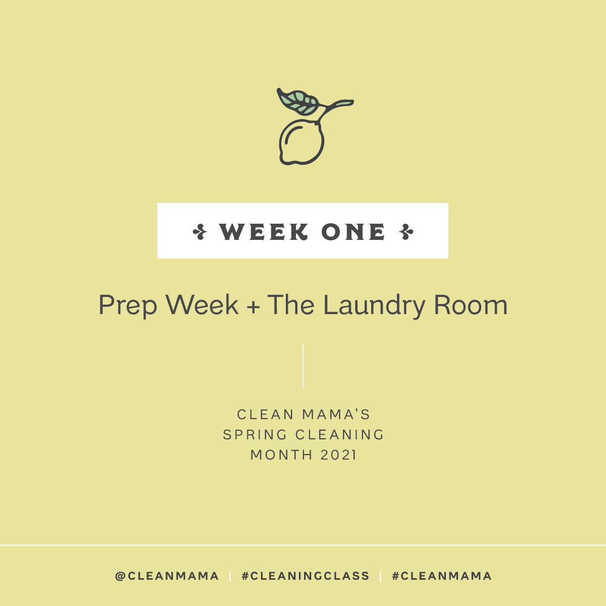 Prep Week + Laundry Room – Clean Mama
