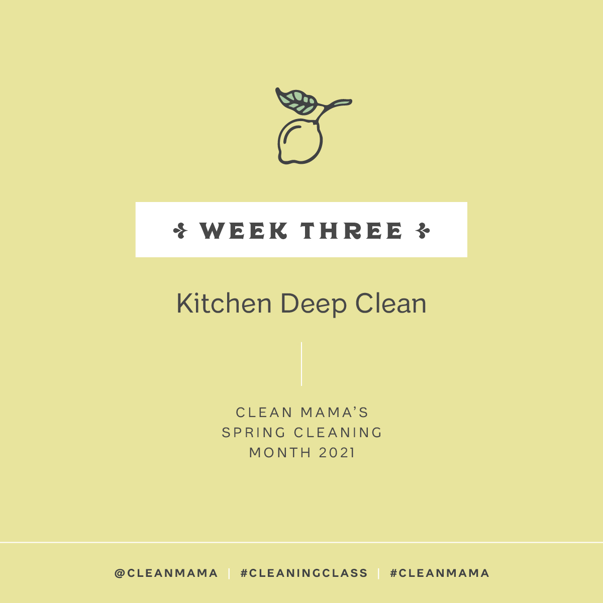 Kitchen Deep Clean – Clean Mama