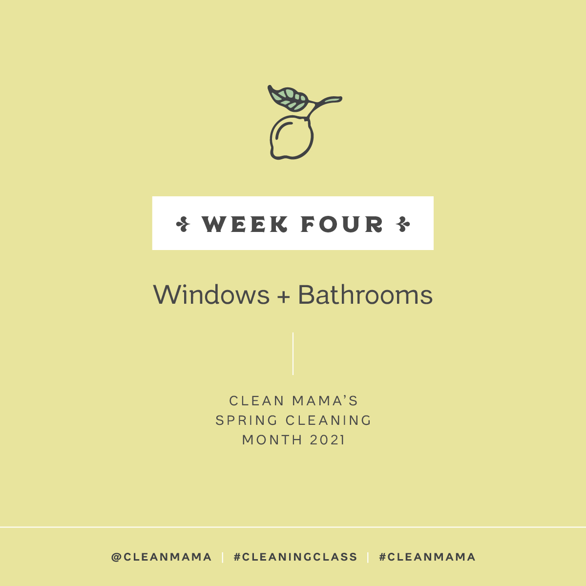 Spring Clean with Me! Week 4 – Windows + Bathrooms – Clean Mama
