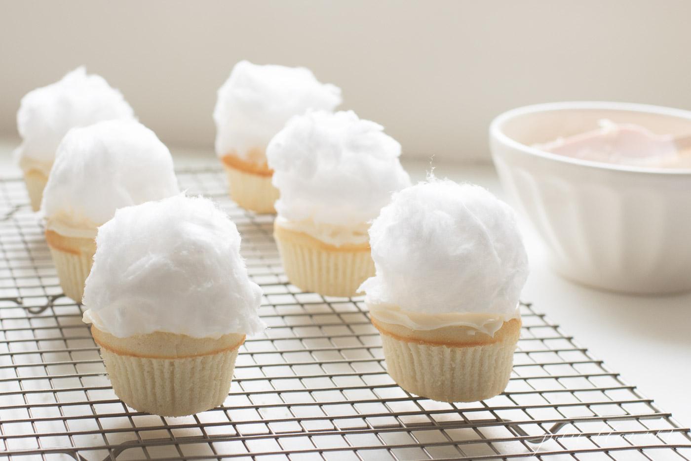 Bunny Tail Cupcakes - 24/7 Moms
