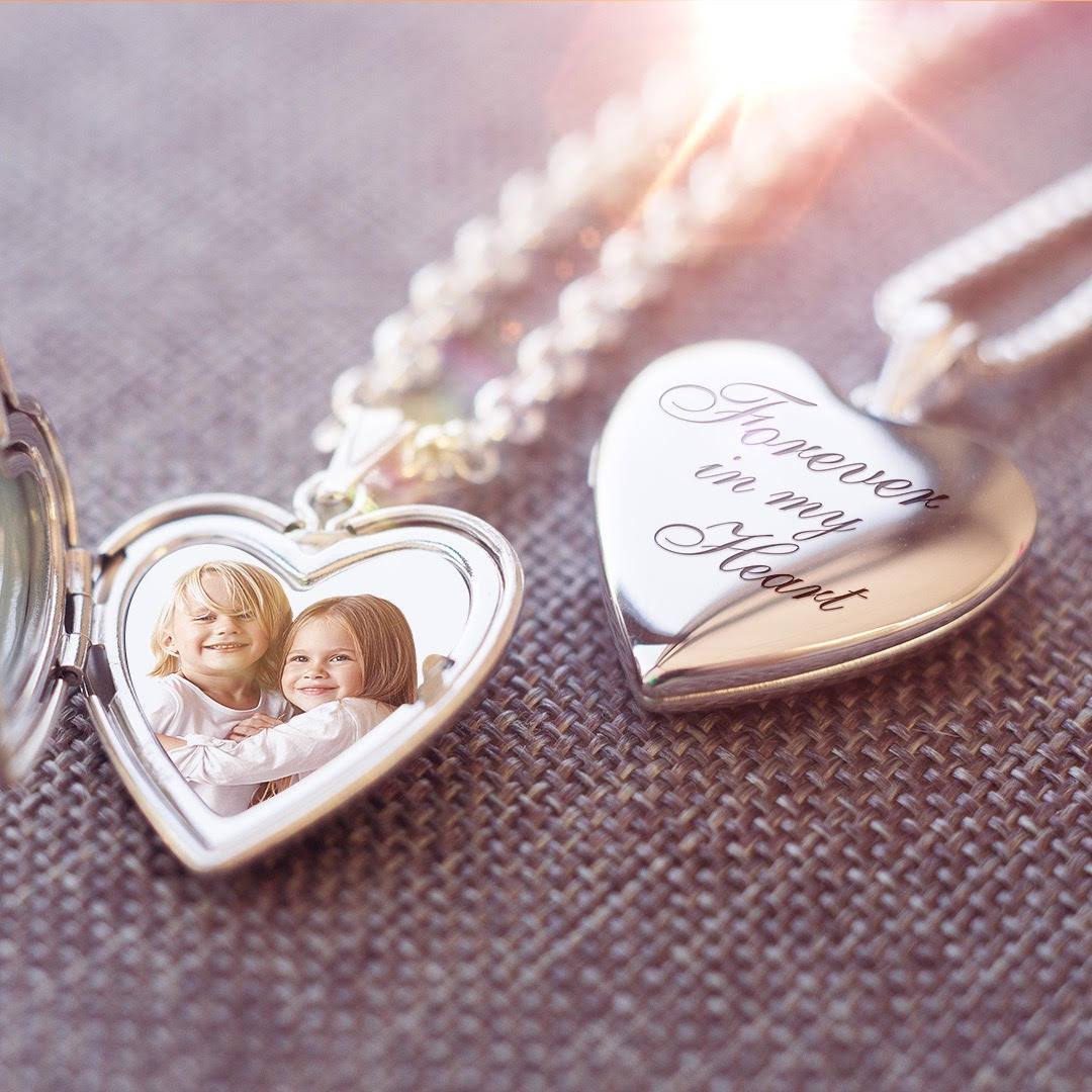 WIN - Build Your Own Sterling Silver 2 Photo Heart Locket