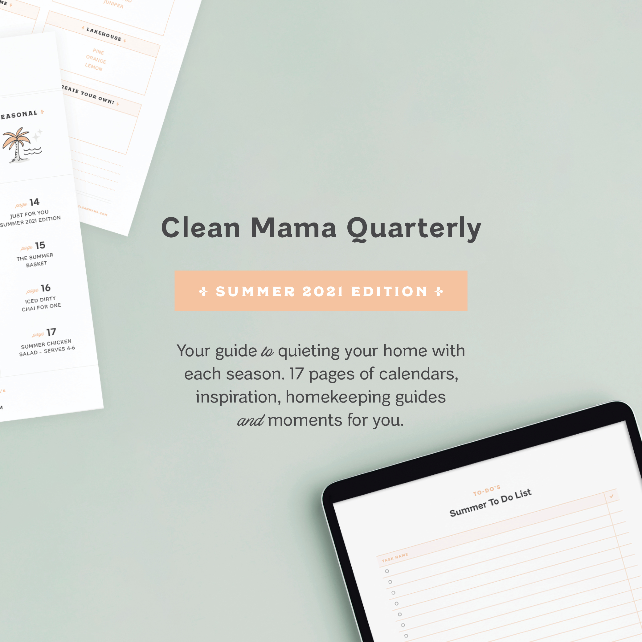 All New! Clean Mama Quarterly – Summer 2021 Edition – Clean Mama