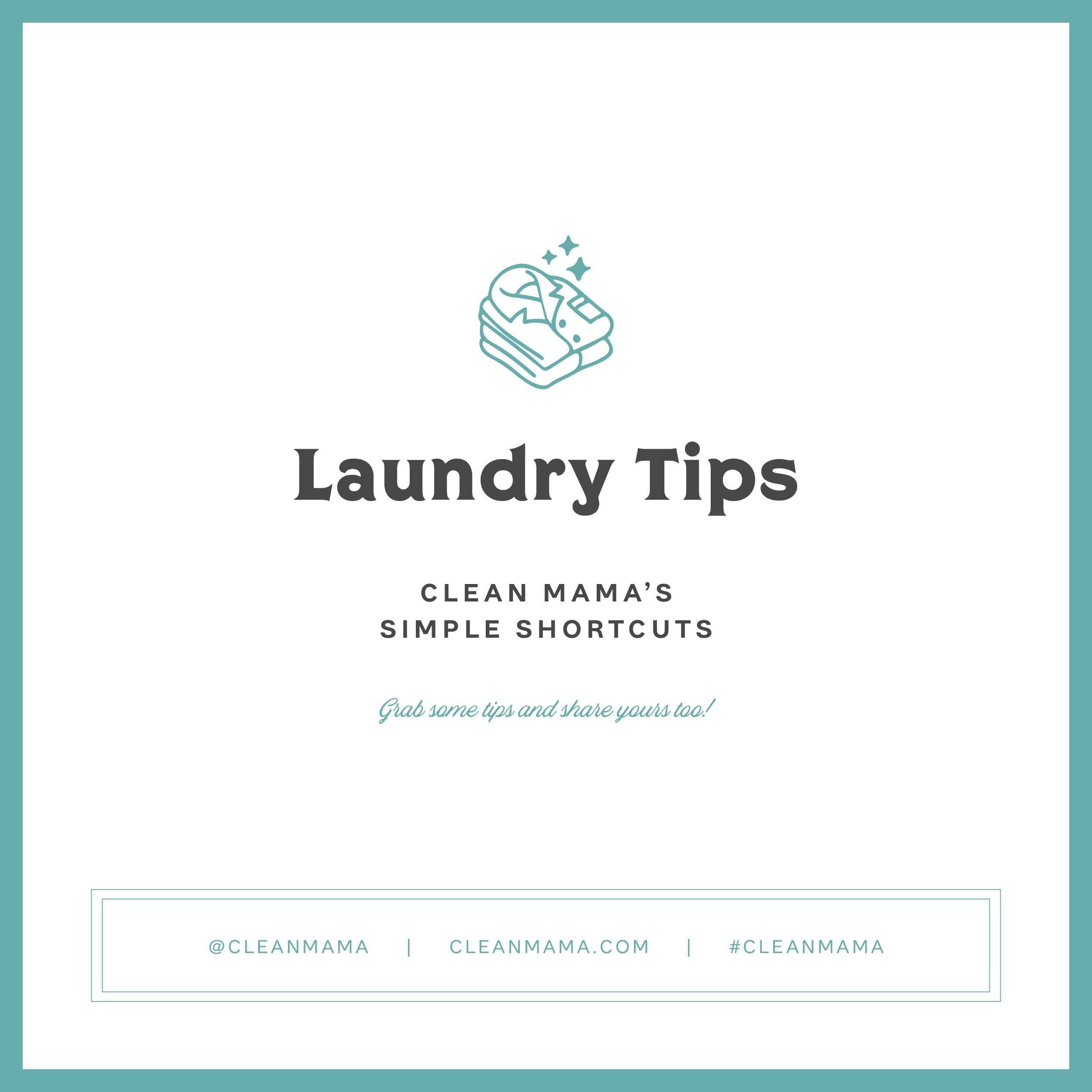 Laundry Tips – Clean Mama