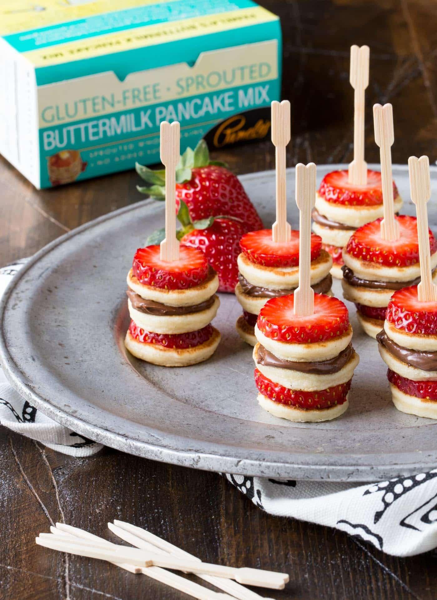 Day 3 - Mini Pancake Skewers a Gluten Free Version {100 Days of Summer Fun}