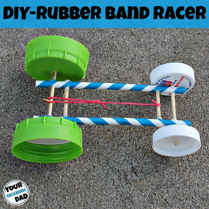 Day 2 - DIY Rubber Band Racer {100 Days of Summer Fun}