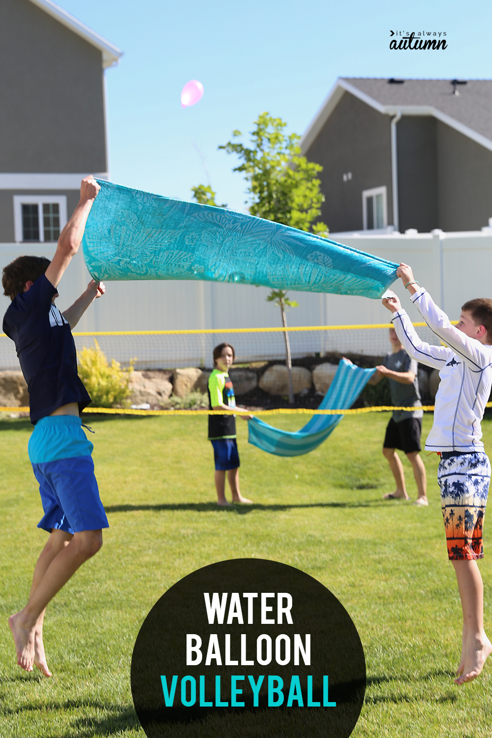 Day 17 - WATER BALLOON VOLLEYBALL: HILARIOUS SUMMER WATER GAME! {100 Days of Summer Fun}