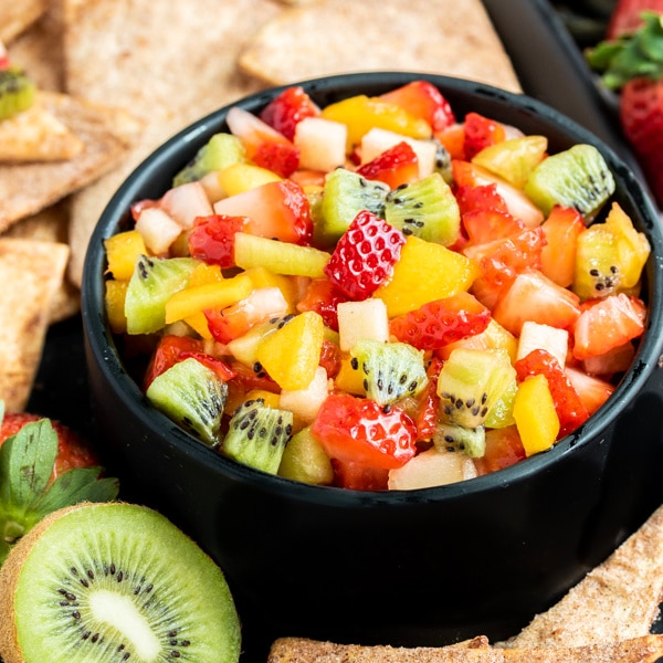 Day 19 - FRUIT SALSA WITH CINNAMON CHIPS {100 Days of Summer Fun}
