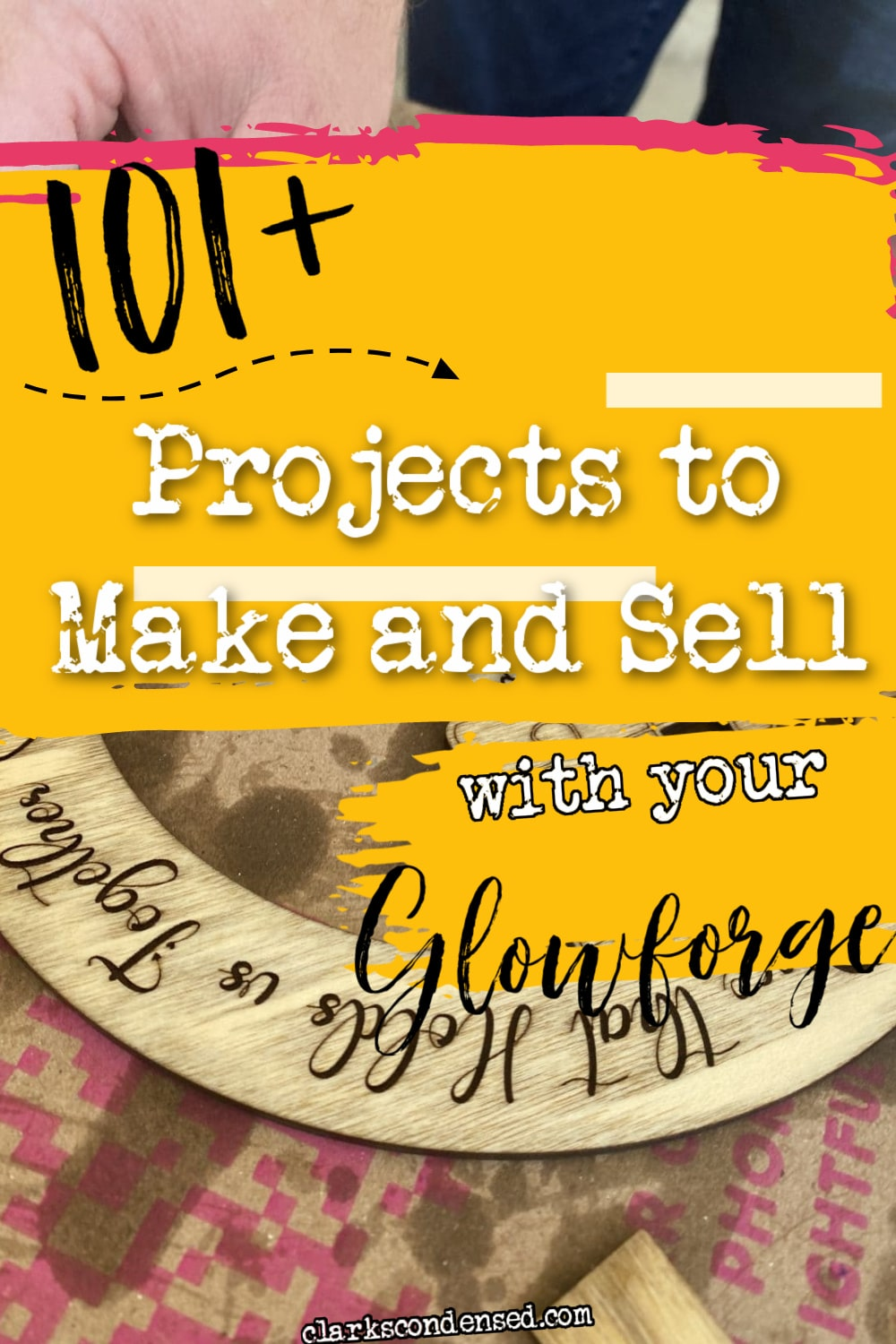 A Glowforge laser cutter has SO many options - but what Glowforge projects are the best to make? In this post, we share over 100 great ideas for Glowforge projects that you can make and sell for your small business. WE