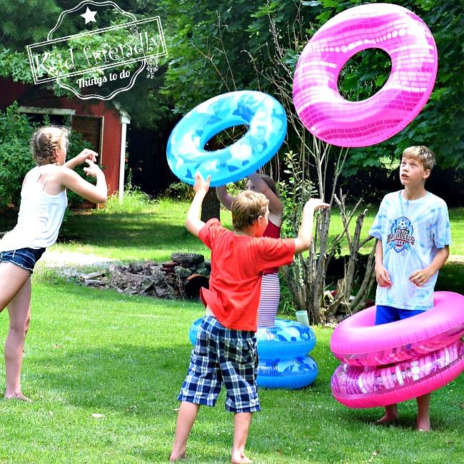 Day 34- Human Ring Toss {100 Days of Summer Fun}