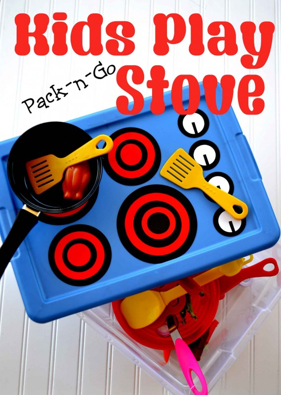 Day 37 - DIY Pack-n-Go Kids Play Stove {100 Days of Summer Fun}