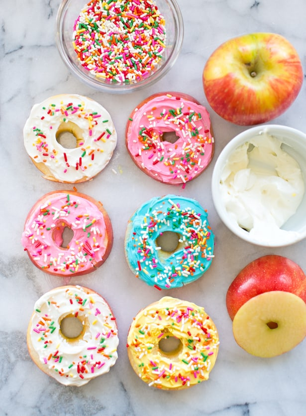 Day 39- EASY APPLE FRUIT DONUTS {100 Days of Summer Fun}