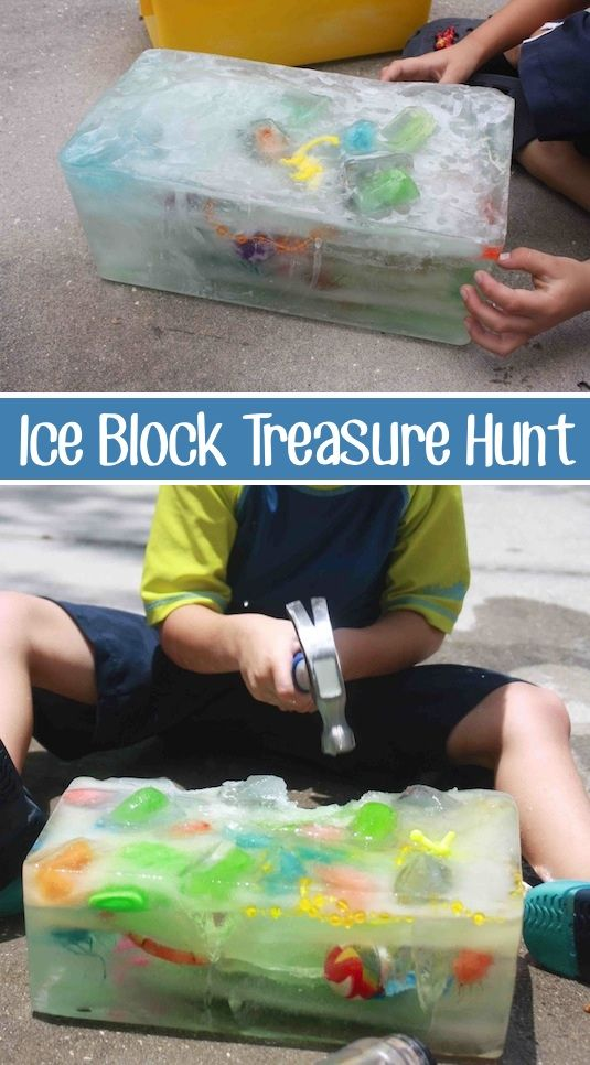 Day 40- Ice Block Treasure Hunt {100 Days of Summer Fun}