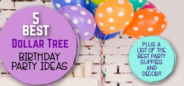 30+ Dollar Tree Birthday Decorations, Supplies, and More!
