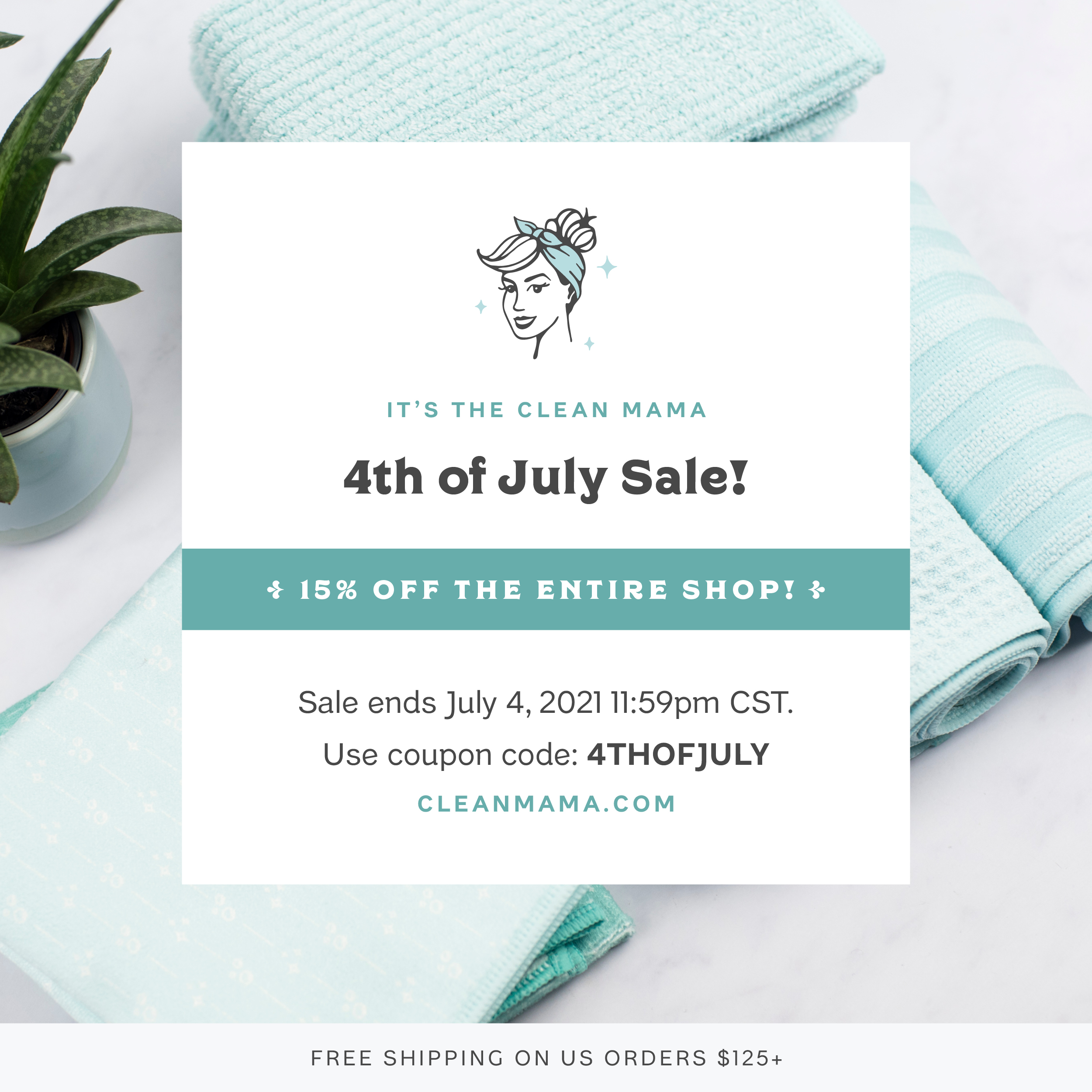 It's the 4th of July Sale! 15% off the entire shop! – Clean Mama