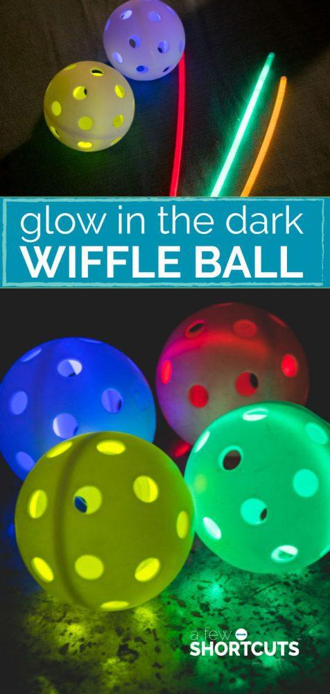Day 49 - Glow In the Dark Wiffle Ball {100 Days of Summer Fun}