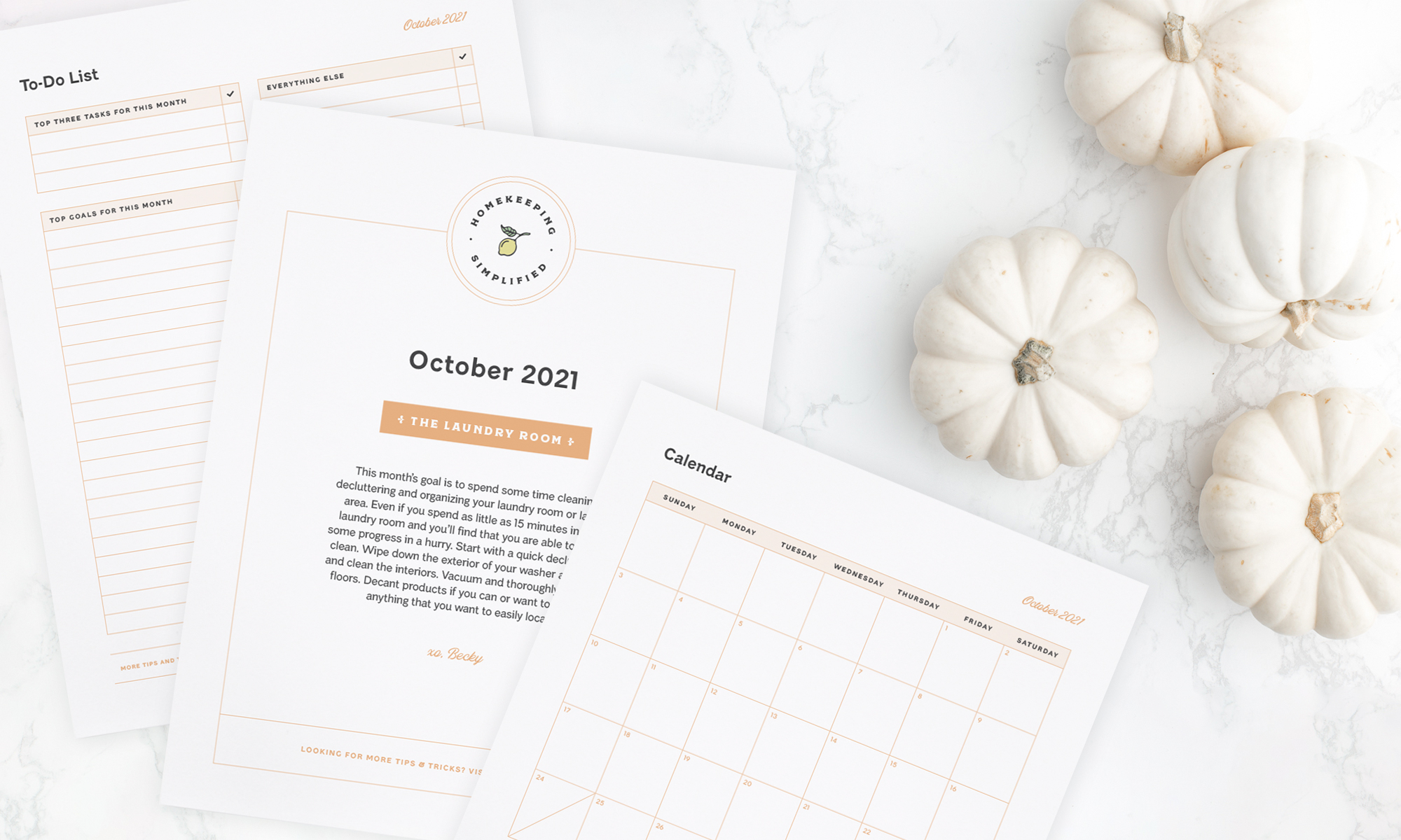 Welcome to Your Clean Home - October Homekeeping Society